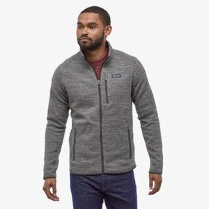 Patagonia Men's Ex Large Stone Wash Gray Better Sweater Fleece Full Zip Jacket